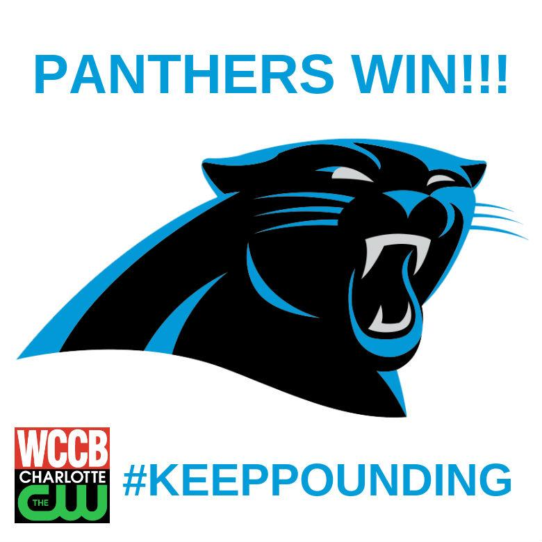 #Panthers win!!! Pound the RT button if you are proud of our #CarolinaPanthers!! #AZvsCAR #KeepPounding @Panthers http://t.co/3H0jYiOA00