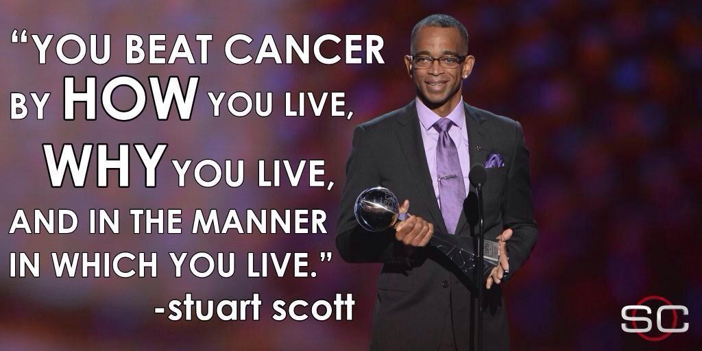 Stuart Scott's unforgettable speech when accepting the Jimmy V Perseverance Award in July.