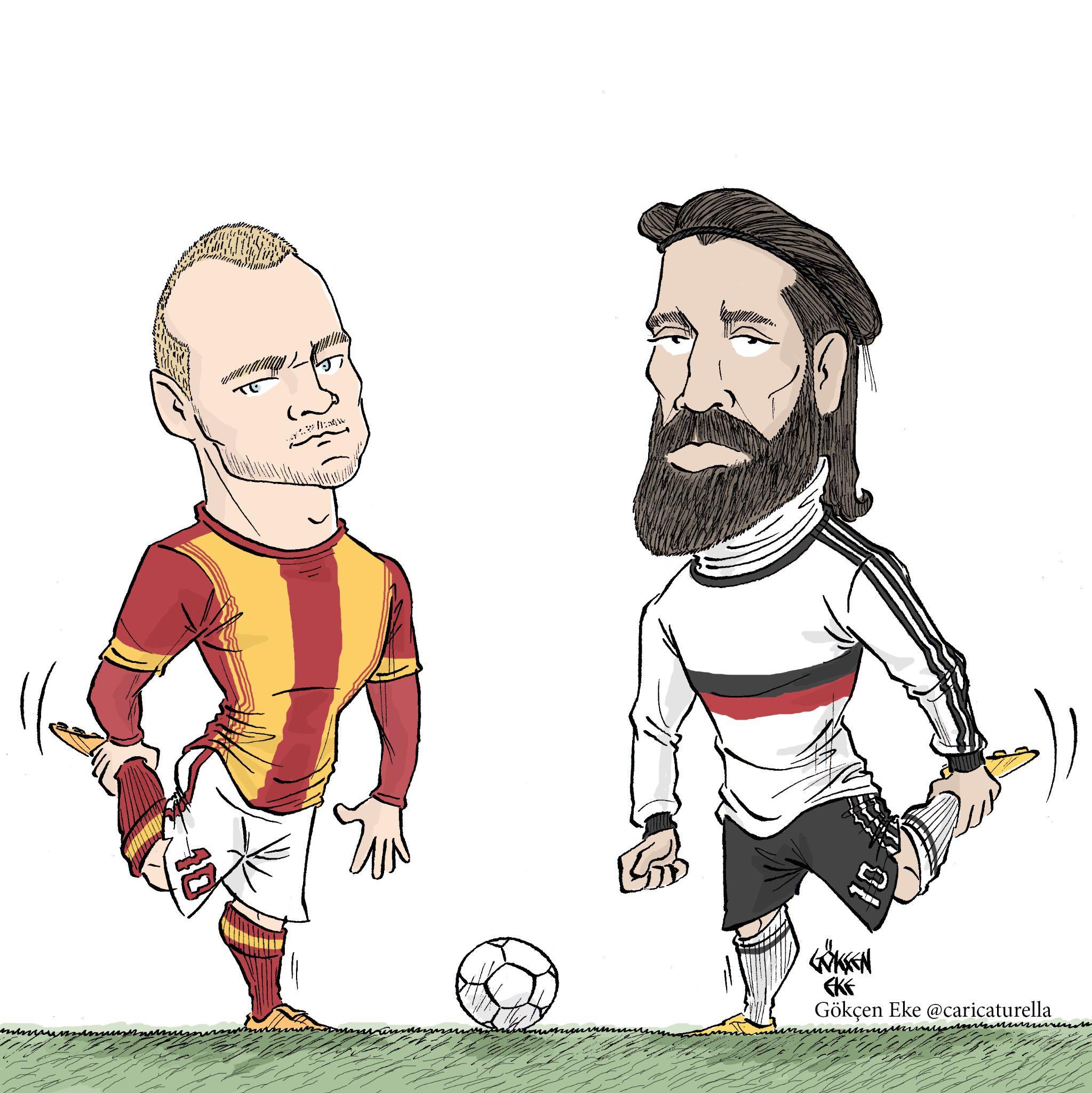 RT @caricaturella: M?thi? sa? m?? M?thi? sol mu? #WesleySneijder #Olcay?ahan #Be?ikta? #Galatasaray #BJKGS #Derbi #OlimpiyatStad? #STSL htt?