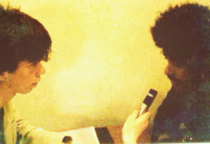 The first interview I ever did. I was 19 years old and Philip was my absolute hero #PhilLynott http://t.co/WVEO8wcD7J