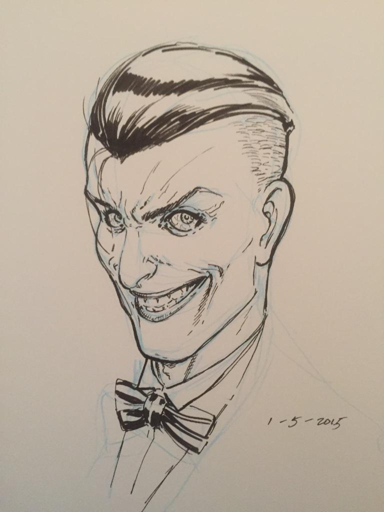 Took a stab at @GregCapullo's design for The Joker. @Ssnyder1835 #Batman http://t.co/yskZs2ieLE