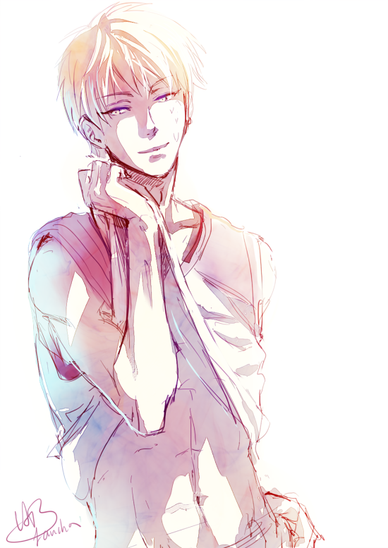 Now, after I almost got the hang of Kise's hair, Fujimaki-sensei changes the hairstyle...  now I gotta re-learn. http://t.co/RI8pyxFvsV