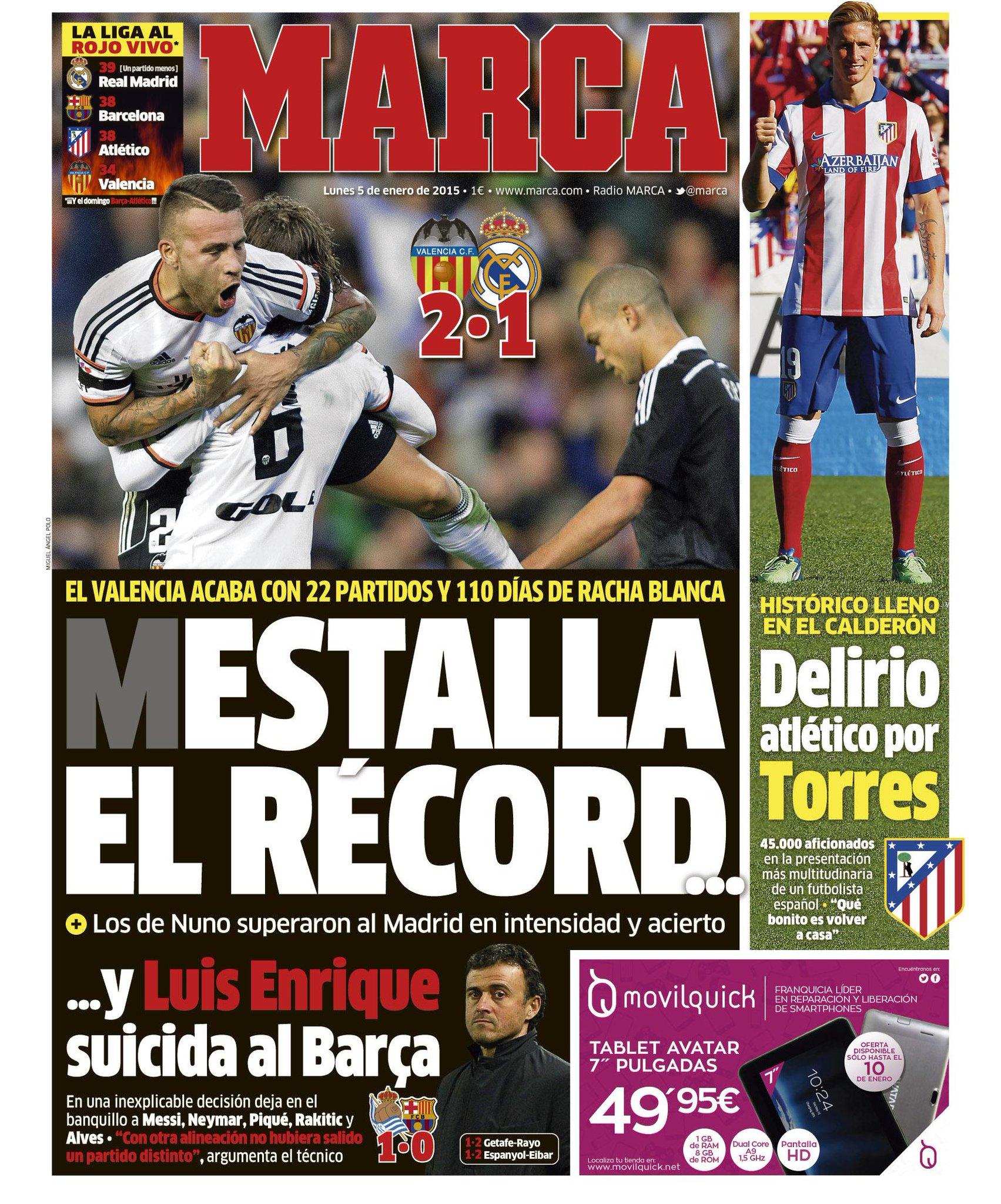 Mestalla el récord #LaPortada http://t.co/jn6sSw56eF
