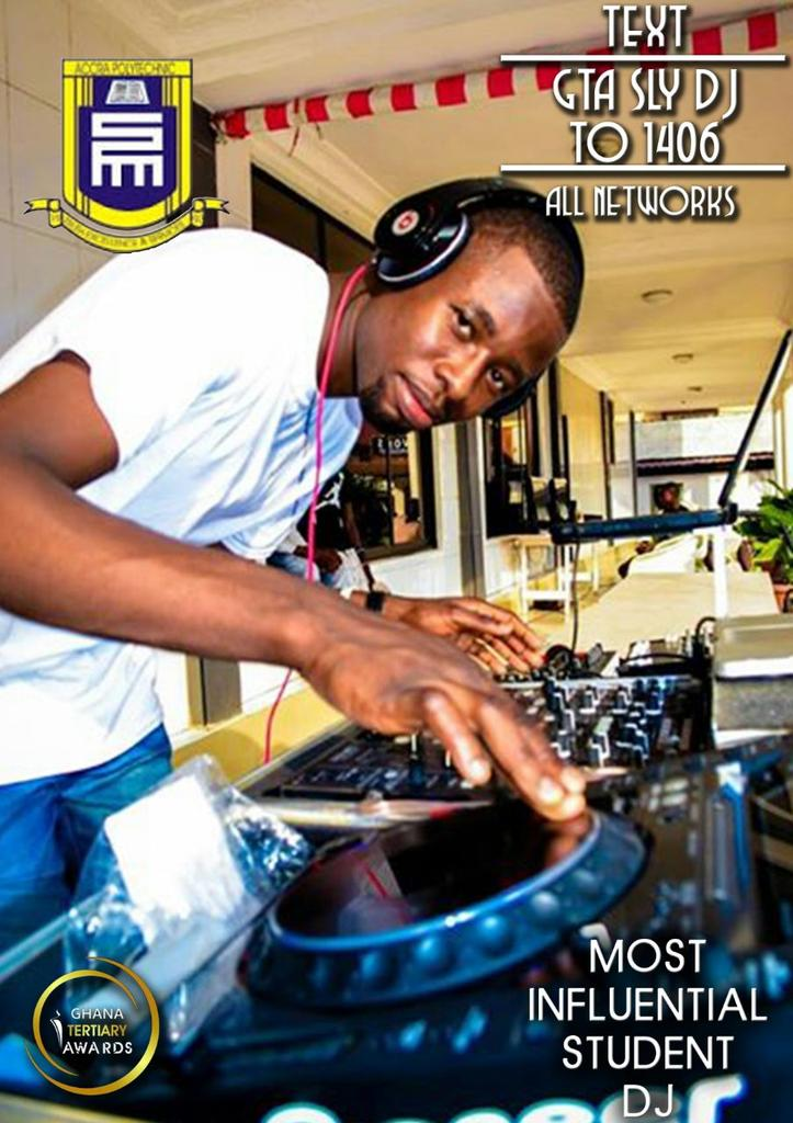 Vote @IamDjsly as the most influential student dj in the on going Ghana Tertiary Awards txt GTA DJ SLY to 1406 http://t.co/oGcSMQaSqS