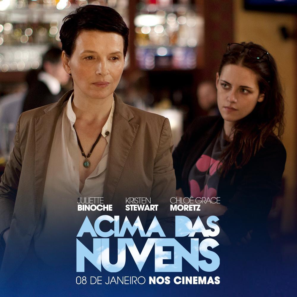 Estrelado por #JulietteBinoche, #KristenStewart e #ChloëGraceMoretz, #AcimaDasNuvens, estreia dia 08/01 nos cinemas http://t.co/GWIsdijHLR
