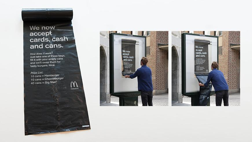 McDonald's Accepts Cans As Currency For Food In Stockholm   http://t.co/21CofQ1PNJ  #guerrilla #marketing http://t.co/sWpKObJUxK
