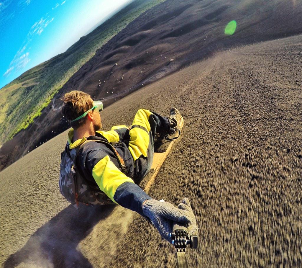 Toboggan down an active volcano before I die... CHECK!   #Nicaragua #Leon #GoPro @GoPro http://t.co/2krg5T4GlX
