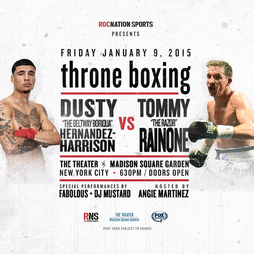 We're proud to be the host hotel for #ThroneBoxing represented by @RocNation on Friday Jan. 9th at @TheGarden. #NYC http://t.co/Qm4RptLedN