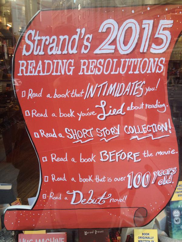 A very good sign. ;-) @strandbookstore #NewYearsResolution http://t.co/2lnWscHw4W