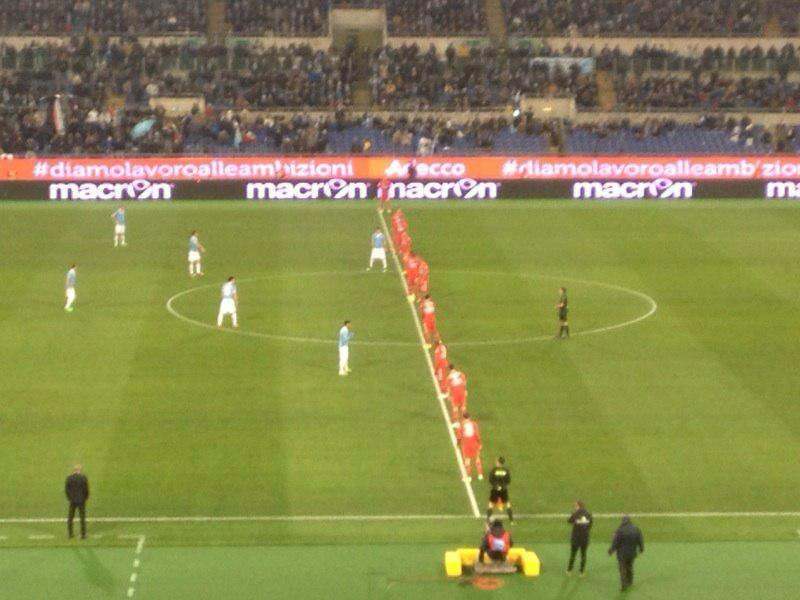 An interesting set-up from Sampdoria against Lazio tonight! http://t.co/BjN5nuJhfP