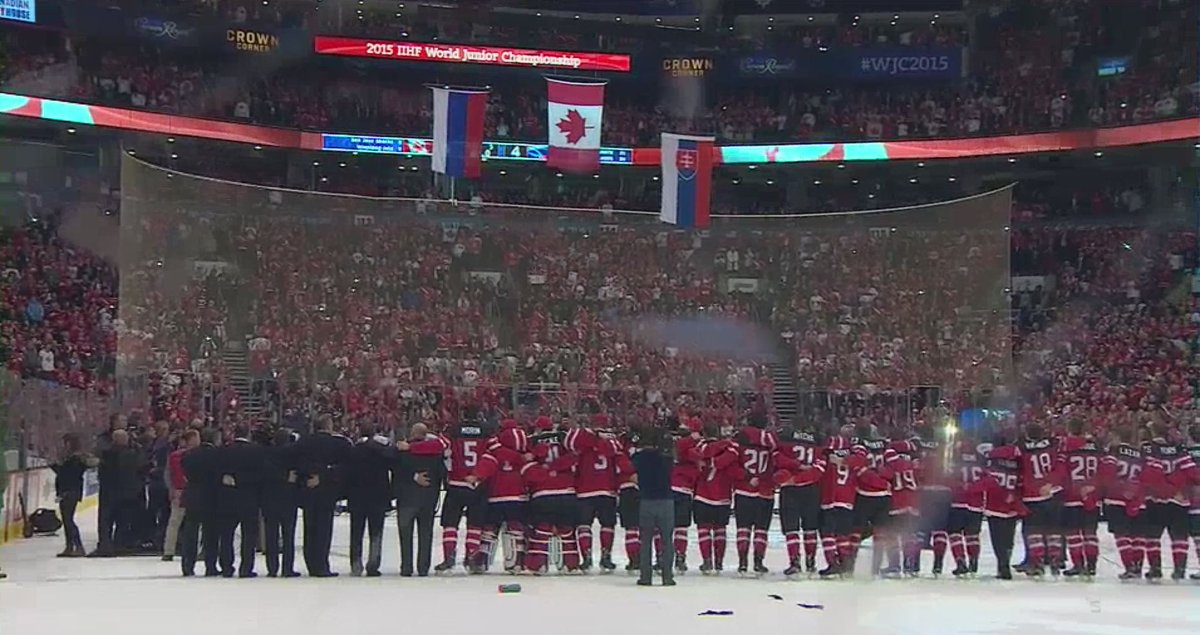 Canada's back on top of the hockey world in 2015 #HereWeGo  #WJC2015 http://t.co/VTx6eGvjkD