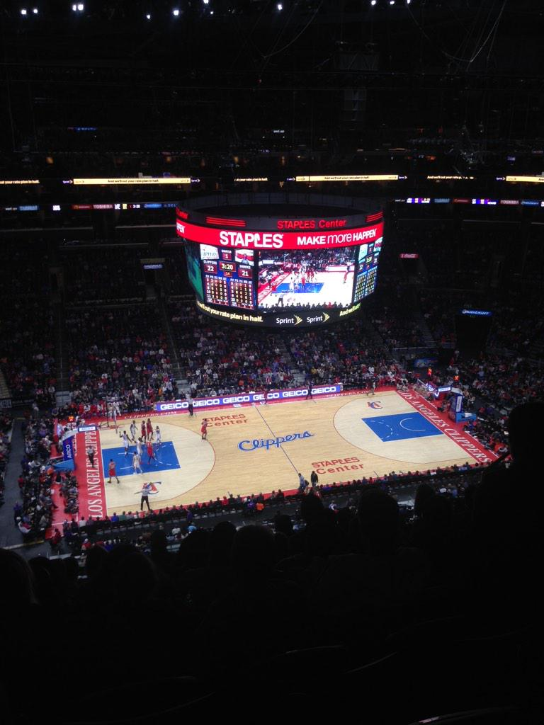 Hi I'm im heaven @LAClippers @STAPLESCenter http://t.co/SXBGKC4BID