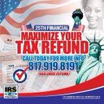 @SWINDIRELLA #TaxTimeNow Open! Free estimates w/last pay stub. #Arlington 817.919.8191 http://t.co/nZSwlGIpy2 #25thFinancialCo