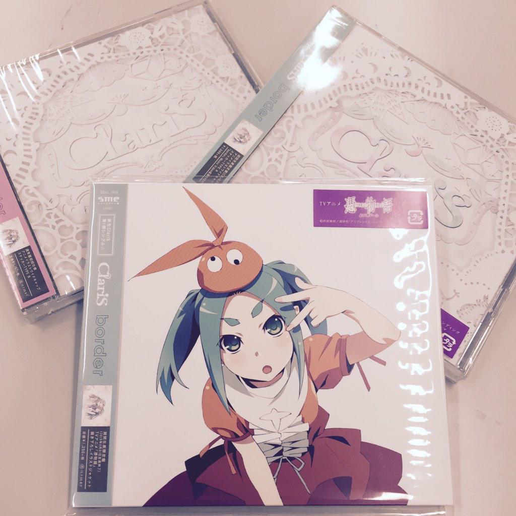 ClariSの新曲「border」はいよいよ明日1/7にCD発売です。新生ClariSの歌声をぜひお聴き下さい♪  #憑物語 #クラリス #ClariS #物語シリーズ http://t.co/Vve7zZZKav