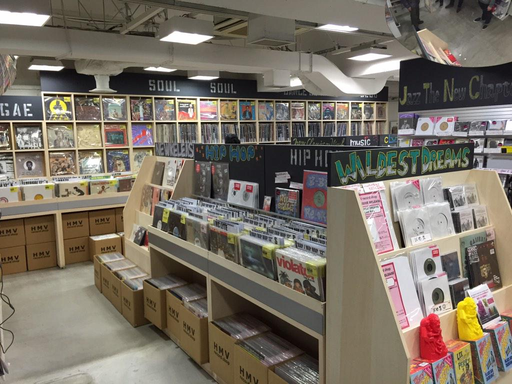 Now #Digging for #Japan #Boogie #Disco @HMVrecordshop the new home of #Vinyl in #Shibuya #Tokyo