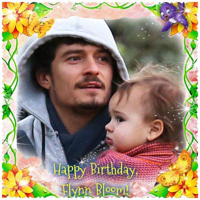 Happy Birthday to the cute Elfing Flynn, the son of the mighty Elf Orlando Bloom! :) Be happy!