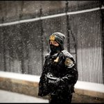 RT @dougmillsnyt: Snow falls on a member of the Secret Service outside the West Wing of the White House. http://t.co/lL0UBgajq7