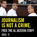 RT @amnesty: Journalism is not a crime. #FreeAJStaff http://t.co/S410kOQikq http://t.co/KGbbUPdHyE