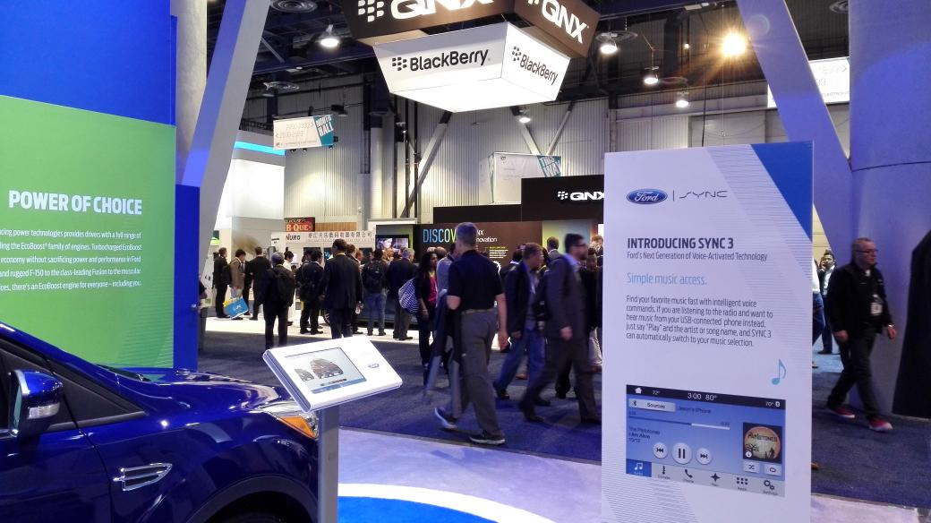 The @BlackBerry QNX stand is next to @ford don't think that was an accident #sync3 #ces2015 http://t.co/T4V06LXcUH
