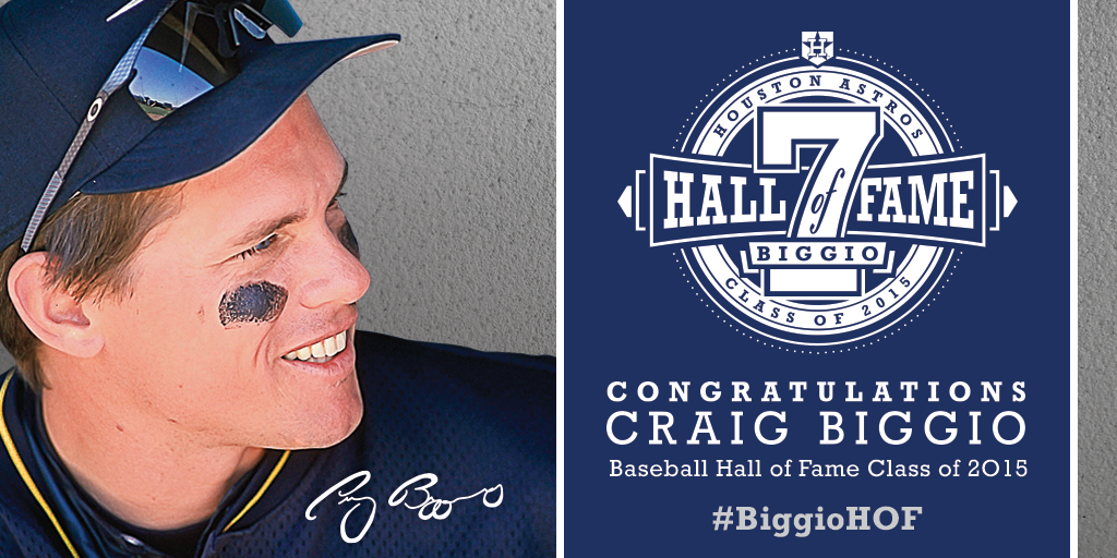 It's official! #Astros legend Craig Biggio elected to the Baseball Hall of Fame Class of 2015. #BIggioHOF http://t.co/donruYila1