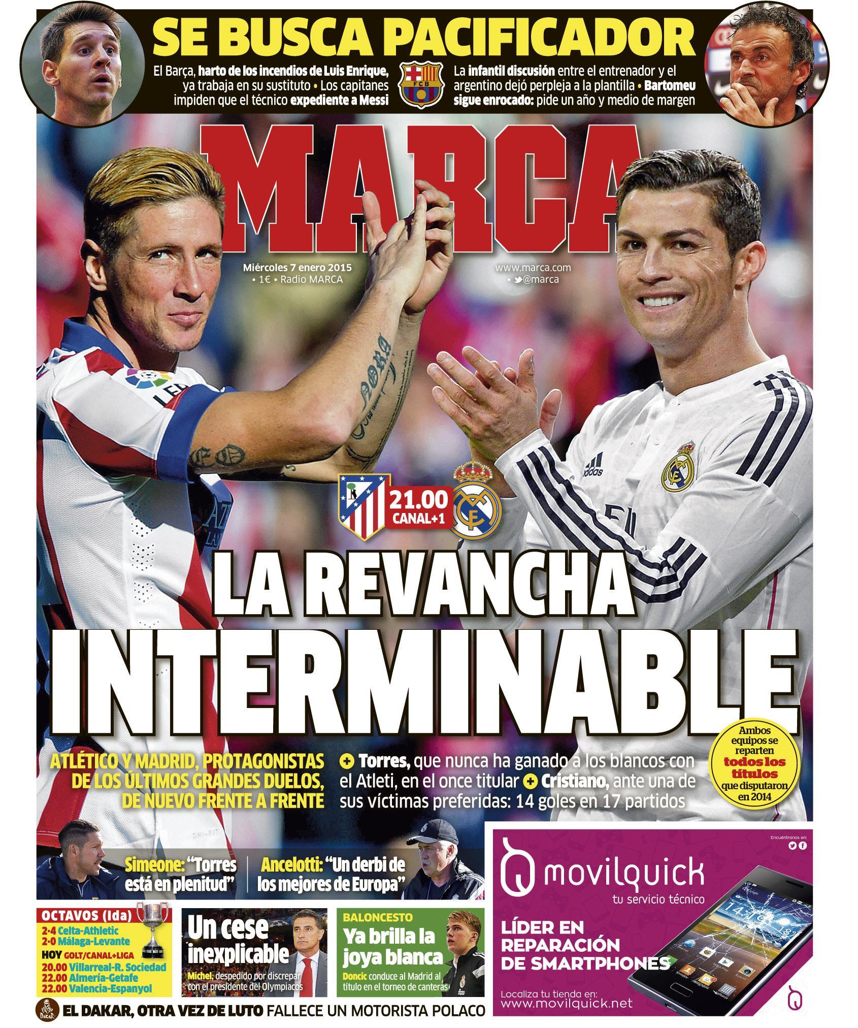 'La revancha interminable' #LaPortada http://t.co/TdslOtJI0k