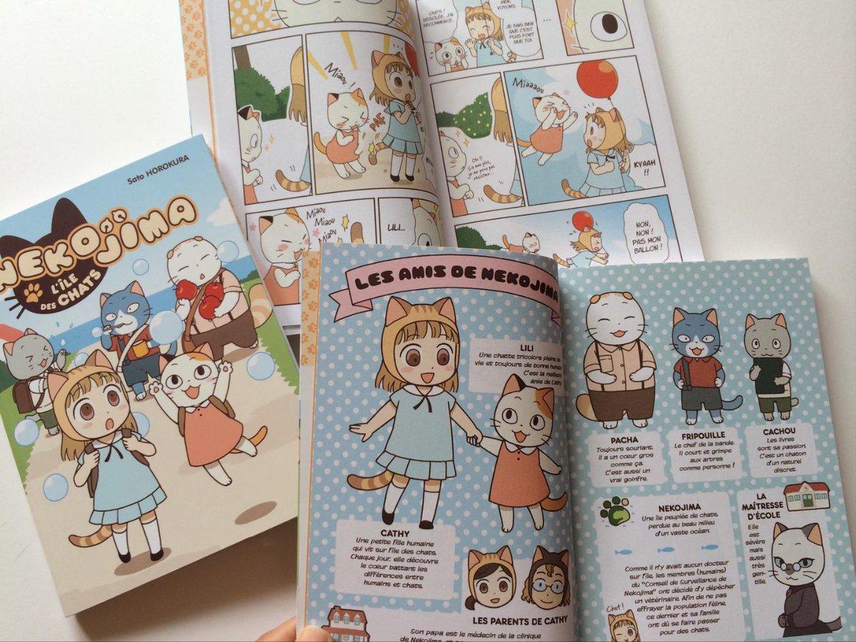 「NEKOJIMA」は、日本では単行本化しなかったものの、縁あってフランスで出版して頂けた、フルカラー猫漫画(猫島2丁目22番地)です。すごく可愛いく作って頂けたので、沢山の方に見てもらいたいのだけど…、何とかならないものかなあ…! http://t.co/cc7xVVJeHu