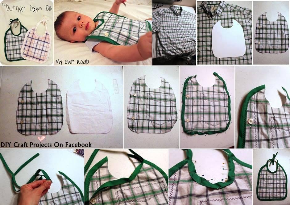 #riciclo camicie: ecco i bavaglini per i #bambini #riuso #green FOTO #creativity http://t.co/ibz4u75nam