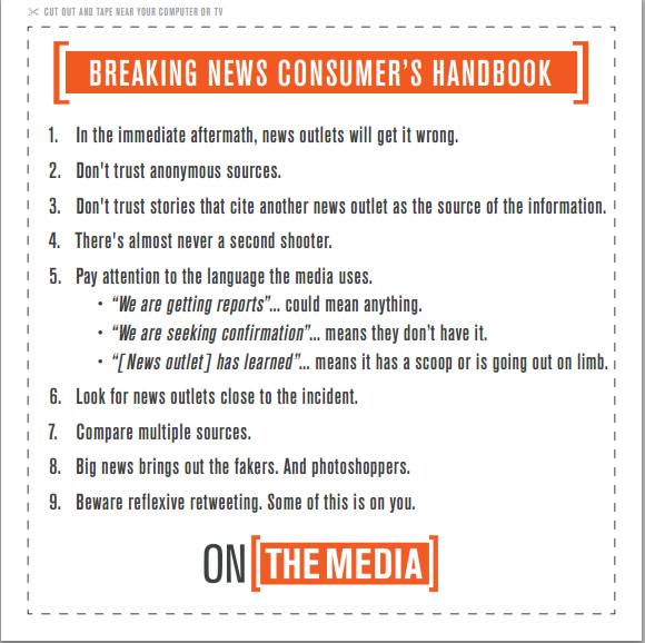 In light of the tragedy in Paris remember the following when looking for news http://t.co/DZOHOreCiF