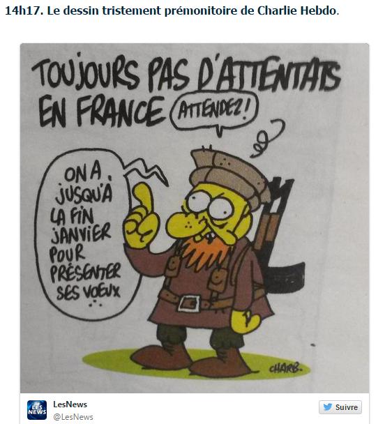 Le dessin tristement prémonitoire de #CharlieHebdo >>http://t.co/DbQULwVihe http://t.co/fWoqJqAn6X