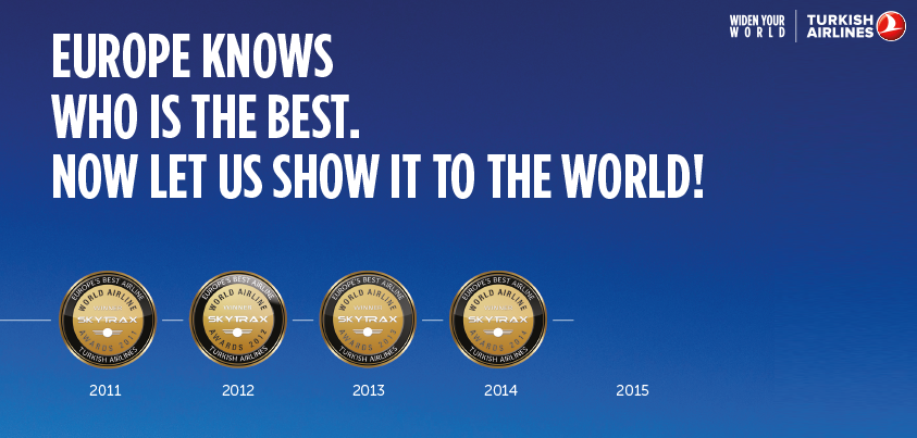 This time we're aiming even higher! Visit and nominate us for the World's Best Airline award.