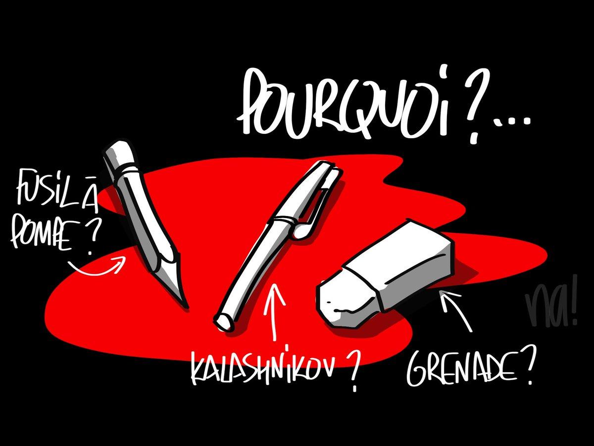 Hommage de notre dessinateur @na_dessinateur aux victimes de #CharlieHebdo http://t.co/2AgMZyc7Yq