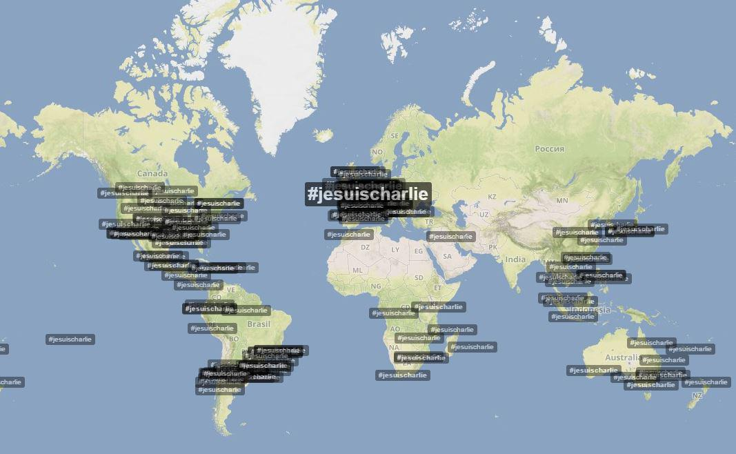 #JeSuisCharlie trending Worldwide - now over 56,000  tweets (via @TrendsMap). More -> http://t.co/8XfdcH2j6S http://t.co/N5Mk6SBxQD