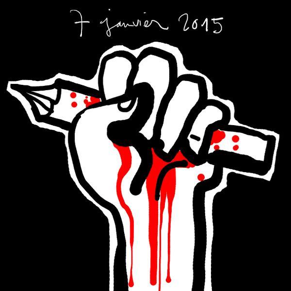 Charlie Hebdo: les hommages en dessins aux dessinateurs tués http://t.co/D0pZ2N6hSR @Slatefr http://t.co/r7pezLFg3r