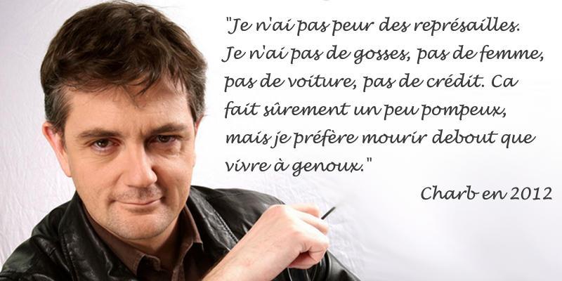 Charb abattu par les terroristes ce matin déclaraient ceci en 2012 #CharlieHebdo http://t.co/TUhRUFoGSZ