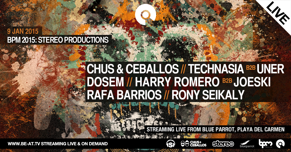 The @stereoprod Showcase will be streaming live from @TheBPMFestival on @BE_AT_TV this Friday! http://t.co/zvXrmdHDNY