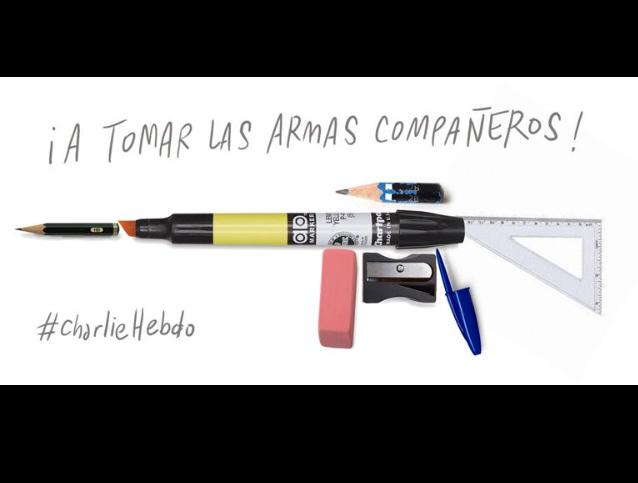 From #chile #JeSuisCharlie http://t.co/qnw7Uyos3B