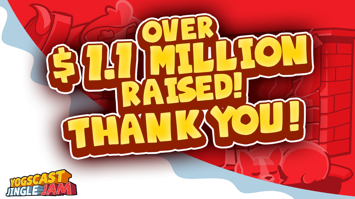 We've done the sums, and you've raised over $1.1 million in the 2014 Jingle Jam! THANK YOU! :D http://t.co/XKpHlGoBtM