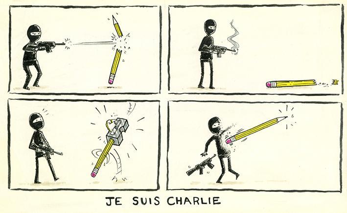 "Perhaps the best #JeSuisCharlie cartoon yet... http://t.co/T3HHbX7fqD"" MT @AndrewBloch #CharlieHebdo"