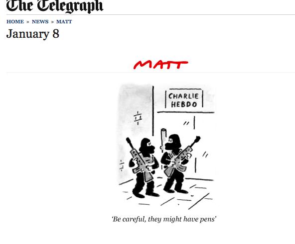 Bravo, Matt. #JesuisCharlie http://t.co/oEroWqYJiZ