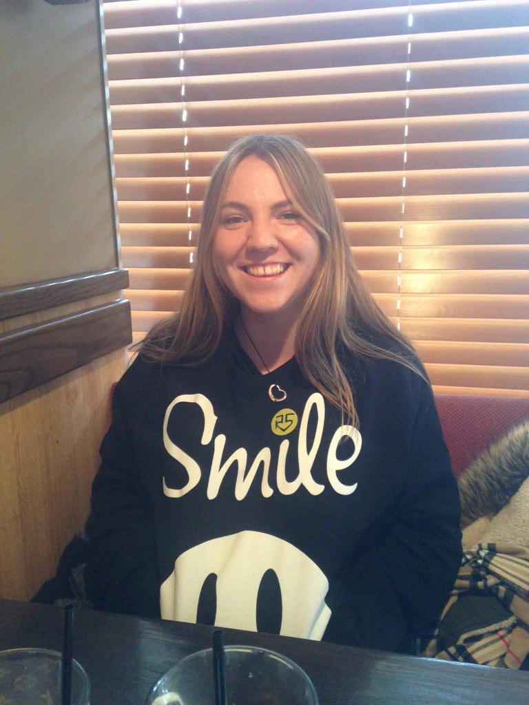 look who's back in nyc! it's @natashadye rockin her @officialr5 #Smile hoodie! http://t.co/CcpkNaVpkQ