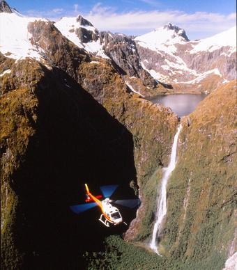 On our bucketlist- take a chopper through Sutherland Falls  @PureNewZealand
