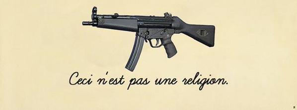 "Ca résume tout ! RT @peigis: BRILLANT: ""Ceci n'est pas une religion"" #CharlieHebdo http://t.co/nkYChF1XmW"