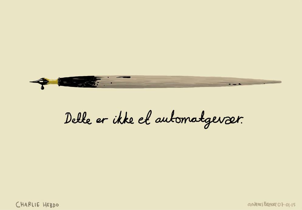 Dette er ikke et automatgevær. #JeSuisCharlie http://t.co/vFXVBrQprl