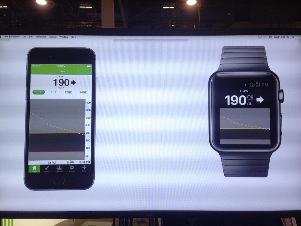 Dexcom Shows Gen 5 CGM on @Apple watch and app! First mockup we've ever seen! FDA submission early this year http://t.co/Ew8dI7WB2v