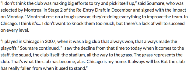 Bakary Soumare has some thoughts about his former club @ChicagoFire http://t.co/e962WbaFLy #cf97 http://t.co/B0lsYUdh6c