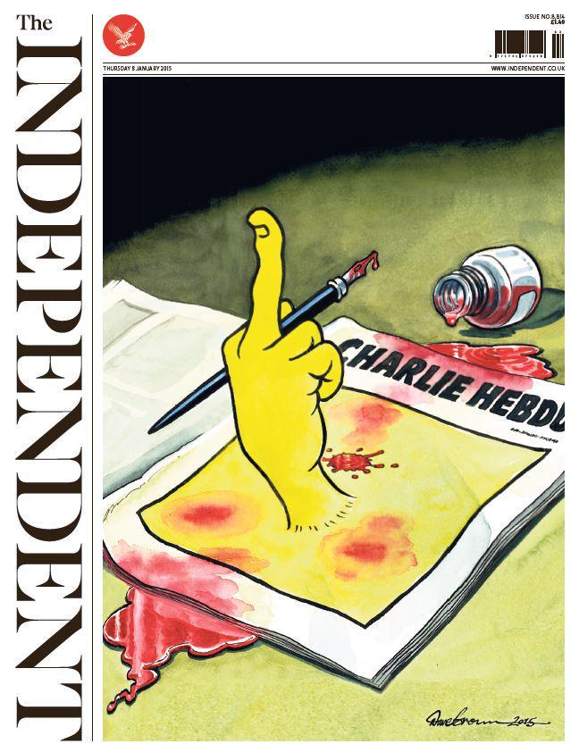 La magnifique une de 'The Independant'. #JeSuisCharlie