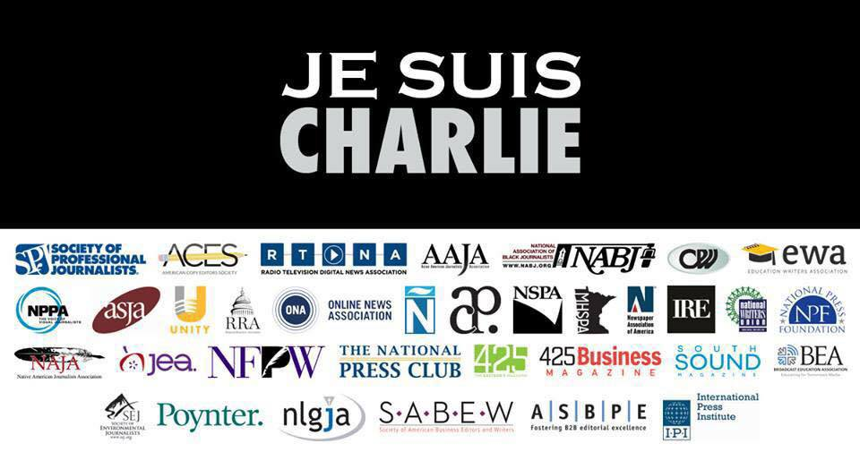 NAHJ & 34 journalism orgs w/ more than 20,000 journalists unite in support of #JeSuisCharlie #CharlieHebdo http://t.co/alackhatVy