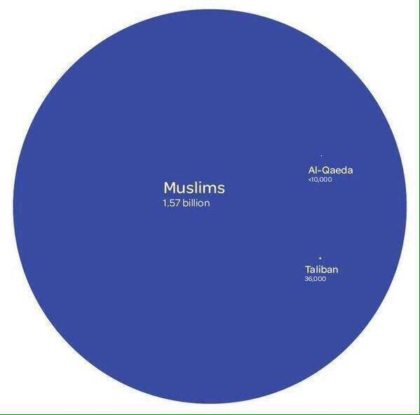Here's a helpful chart for your Christian fundamentalist friend or relative who think all Muslims are to blame. http://t.co/ZmL8Il1DVH