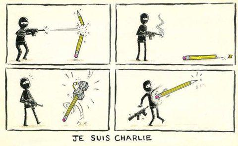 The #pencil is mightier than the sword!! #JeSuisCharlie http://t.co/RMfFI3YSgy