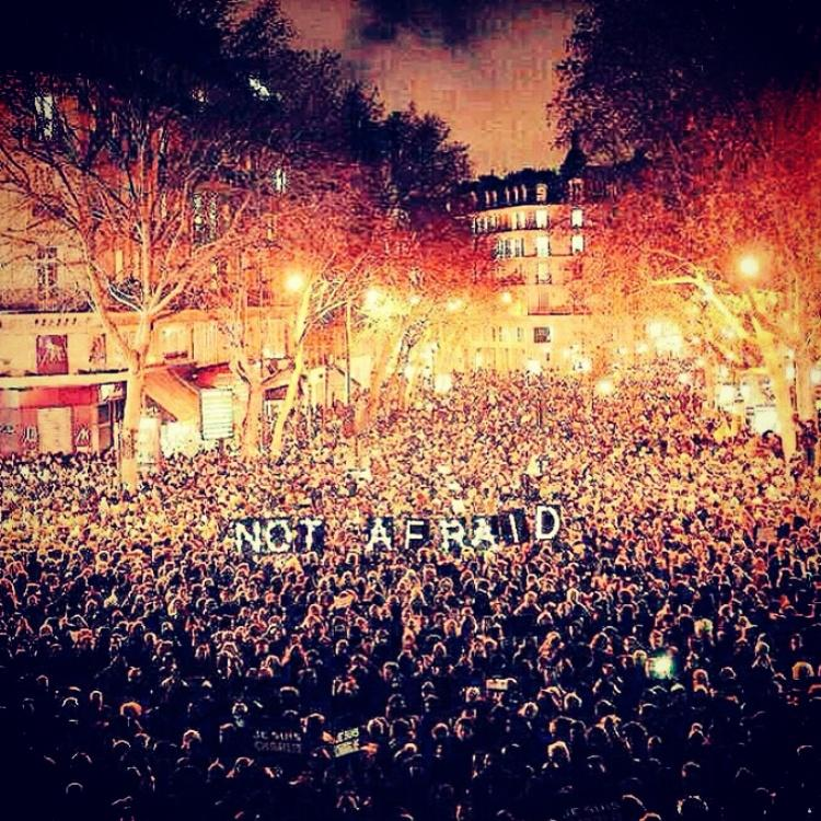 #JeSuisCharlie #NotAfraid #parisattack stand United x http://t.co/o0xDl3SPNs